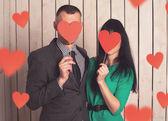 piros szív pár