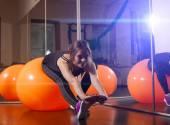 Fotografie Fitness-Training in der Fitness-club