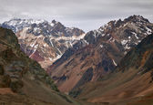 Fotografie Mountains in Aconcagua national park. Andes, Argentina