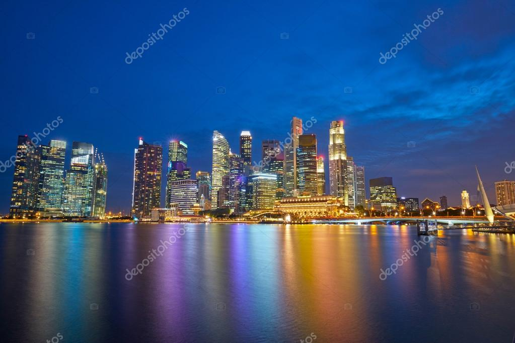 Singapore Cityscape after sunset