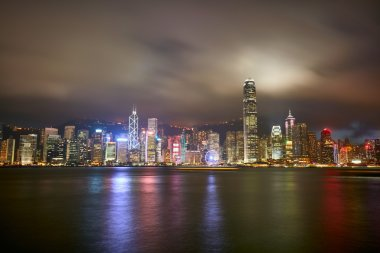 Night view of Hong Kong Island from Kowloon