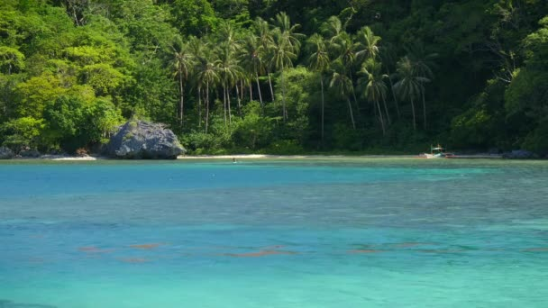 Tropical Landscape With Blue Lagoon El Nido Palawan Island Philippines