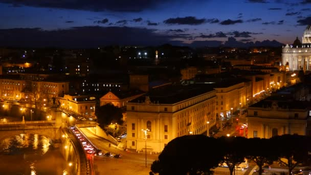 St. Peters Basilica, Vatican. Rome, Italy. After sunset view