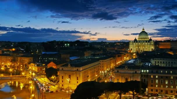 St. Peters Basilica, Vatican. Rome, Italy. Time lapse
