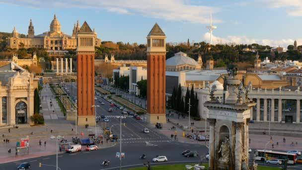 Placa De Espanya( Square of Spain) and National Museum of Art. Barcelona, Spain.