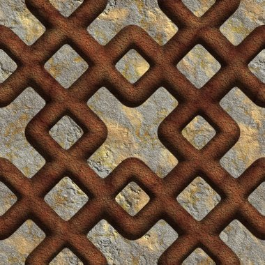 Rusty, red, seamless tileable decorative background pattern stock vector
