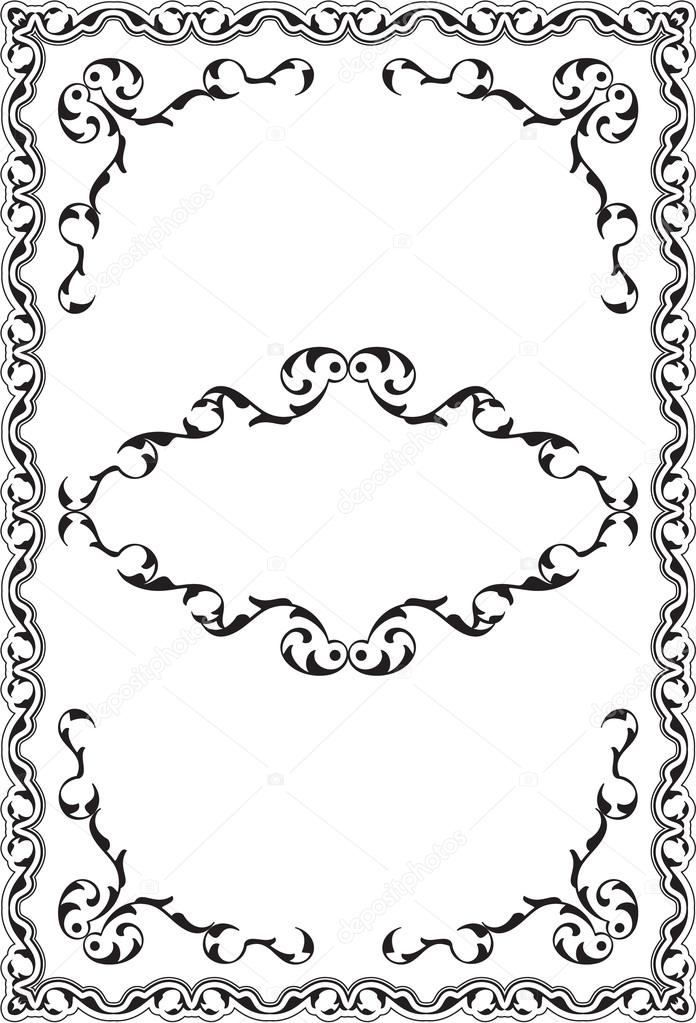 Ornate victorian retro nice frame — Stock Vector © buravtsoff #100007390