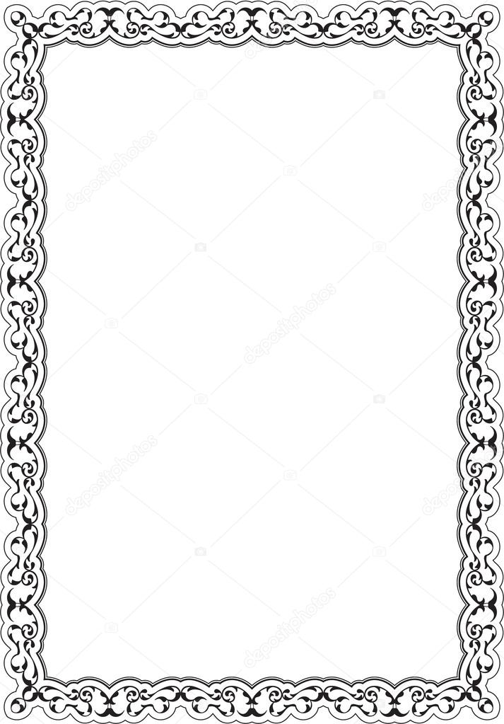 The decor retro nice frame — Stock Vector © buravtsoff #100007520