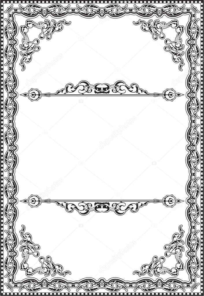 Marco de arte de estilo barroco — Archivo Imágenes Vectoriales ...