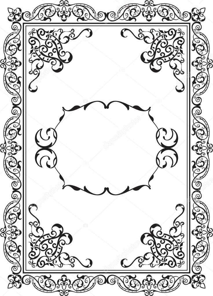 Antiguo marco agradable — Vector de stock © buravtsoff #64387515