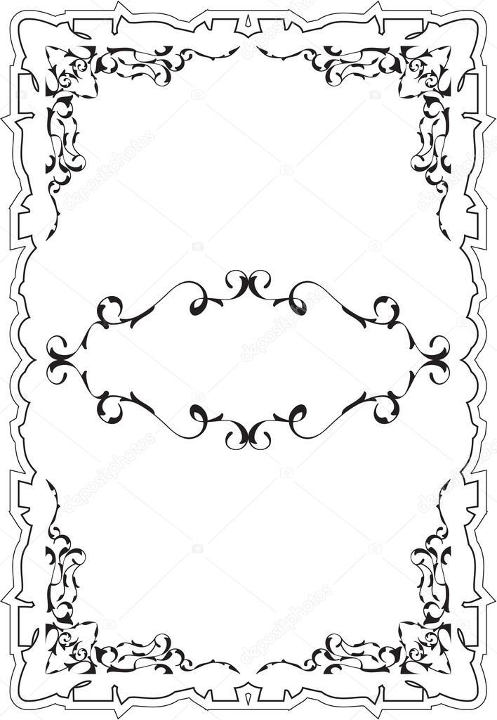 Art vintage cool frame — Stock Vector © buravtsoff #76692677