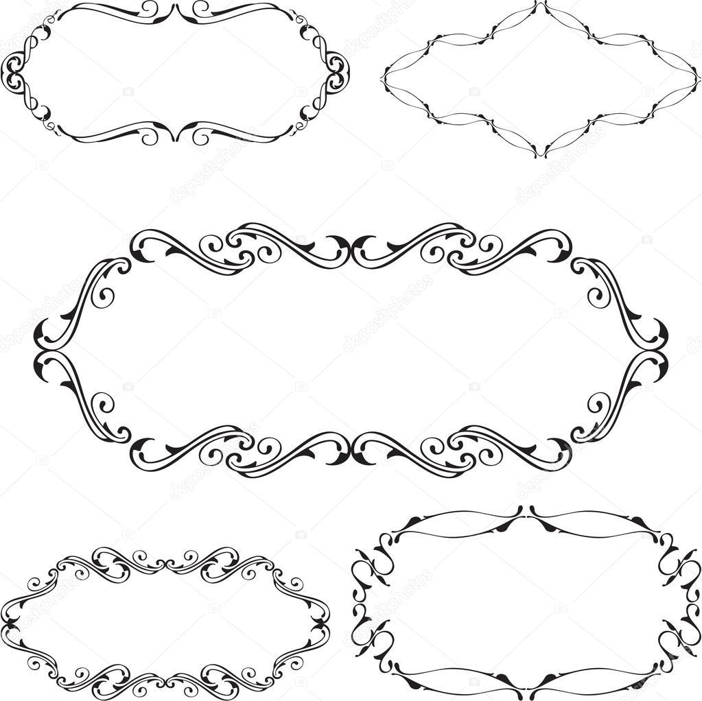 Baroque nice frame set — Stock Vector © buravtsoff #76692811