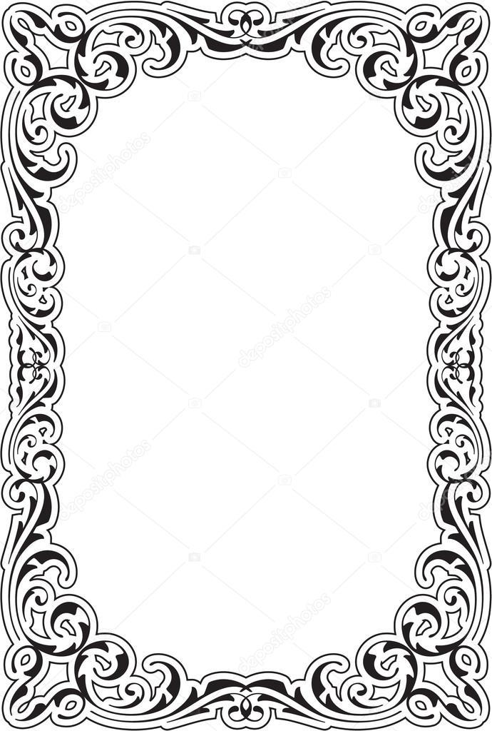 Retro aroque nice frame — Stock Vector © buravtsoff #76694515