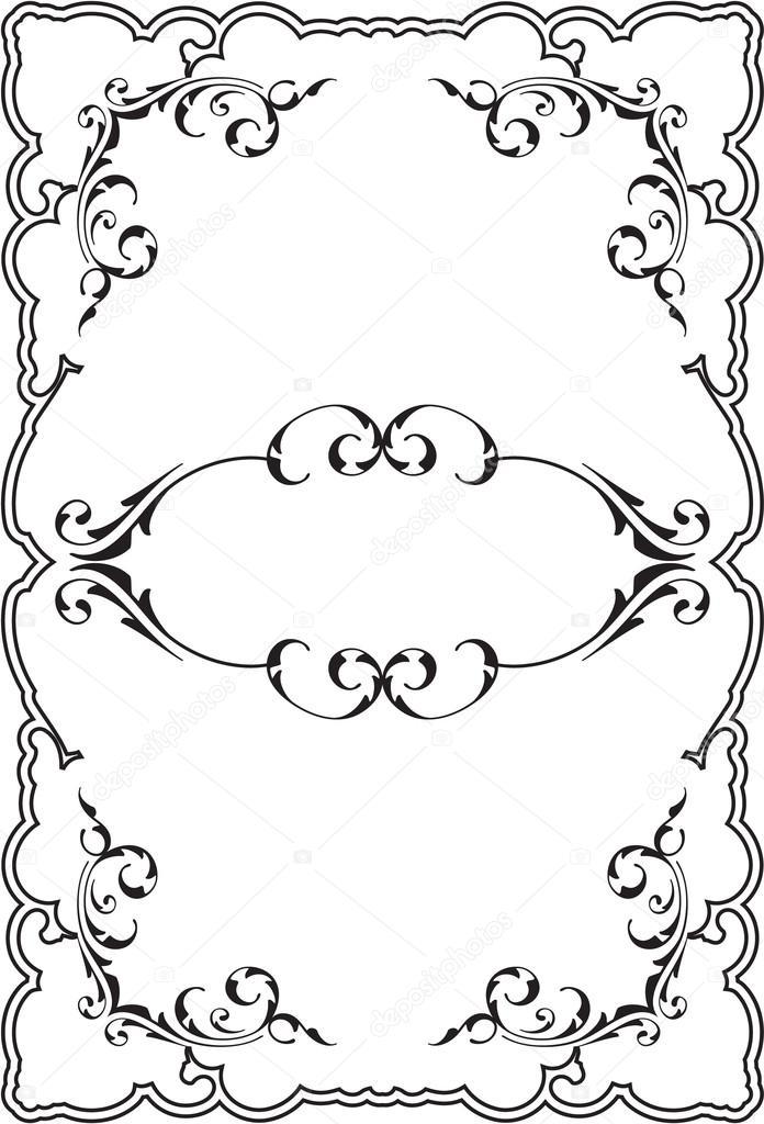 Retro scrolling perfect frame — Stock Vector © buravtsoff #76694663