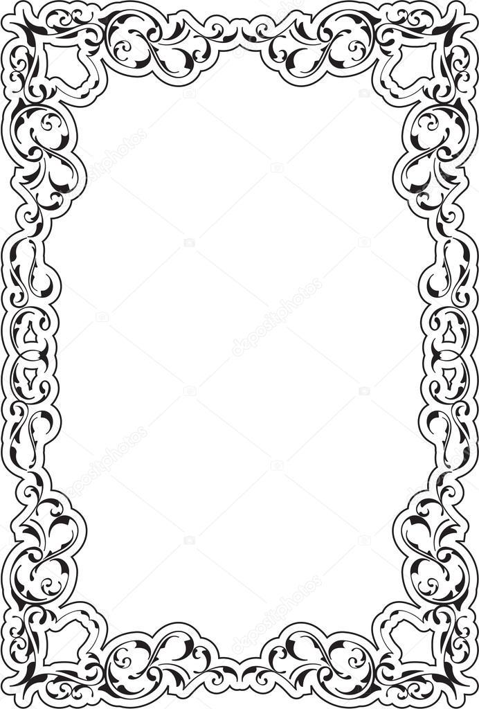 Victorian art ornate scroll frame — Stockvector © buravtsoff #76695163