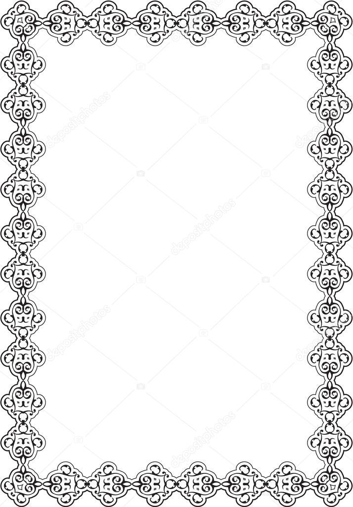 Ornate Vintage Scroll Nice Frame — Vector de stock © buravtsoff ...