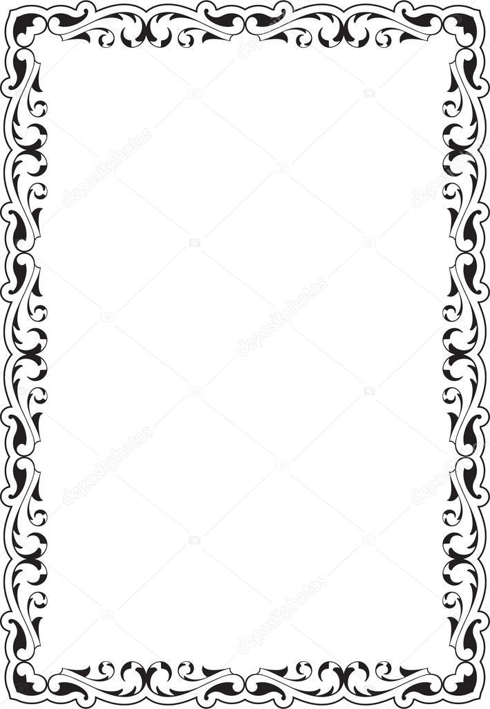 Victorian scroll frame — Stock Vector © buravtsoff #76696251