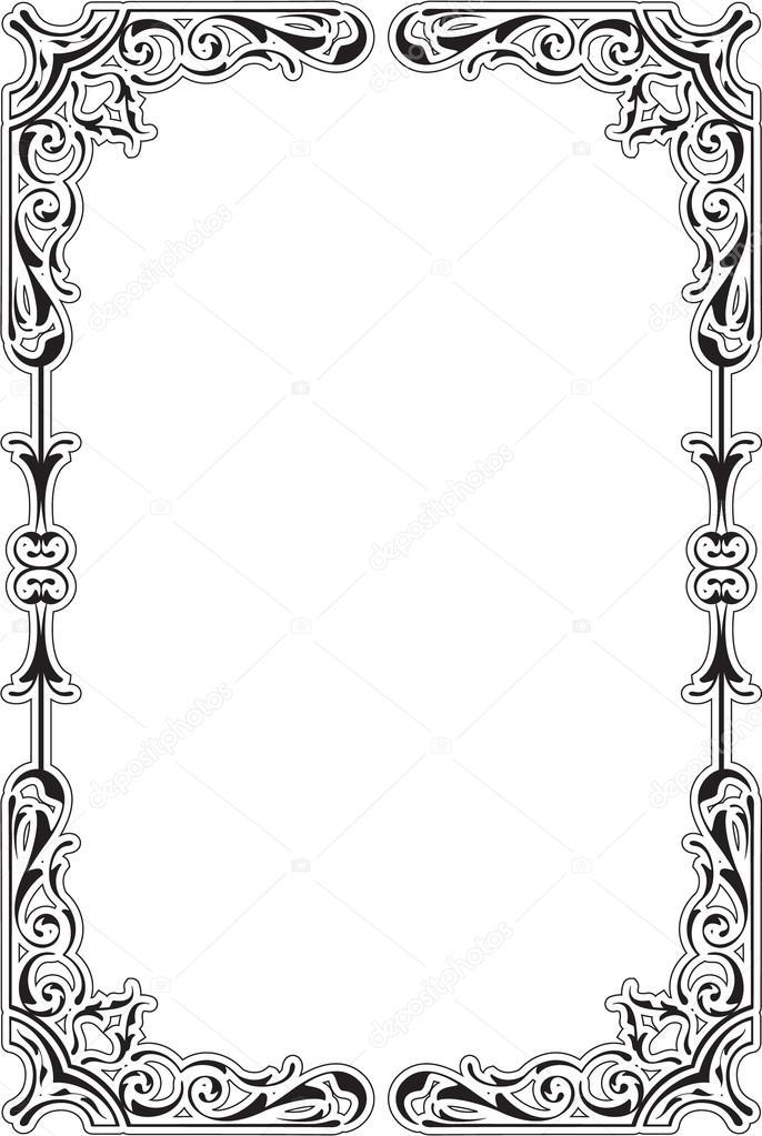 scroll ornane border stock vector buravtsoff 83421418