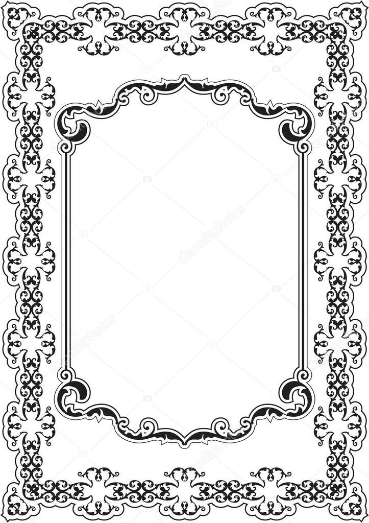 The ornate nice frame — Stock Vector © buravtsoff #83421998
