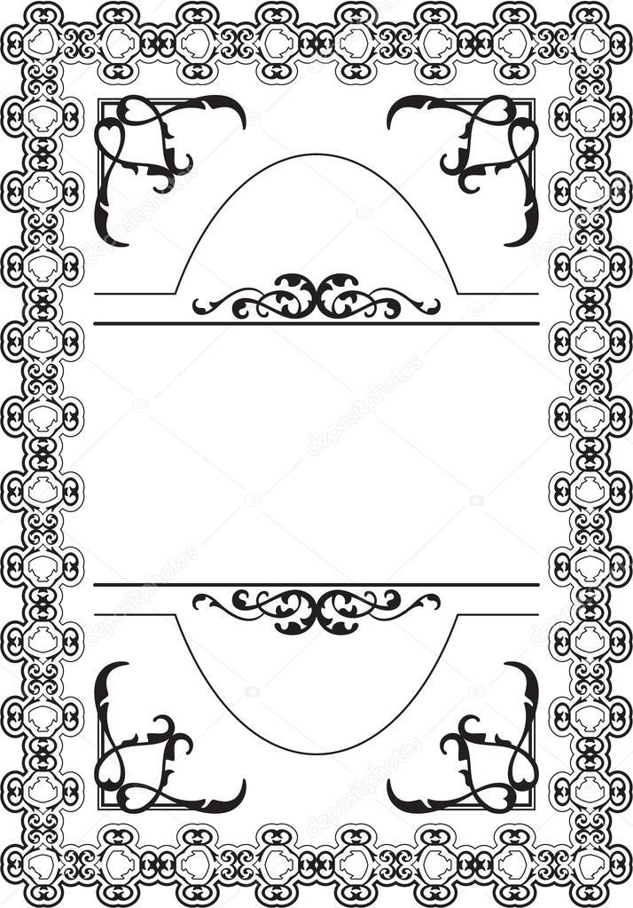 Die viktorianischen Buch-frame — Stockvektor © buravtsoff #83422114