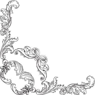Vintage baroque corner element