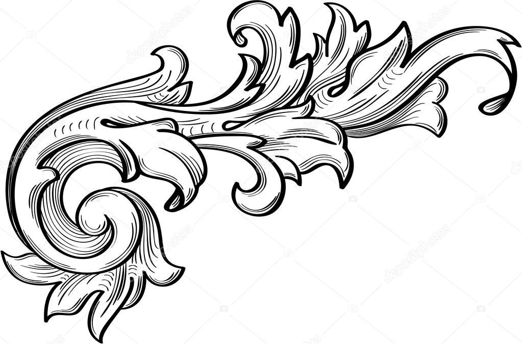Le mod le de fines feuilles d 39 acanthe image vectorielle buravtsoff 84000448 - Feuille d acanthe ...