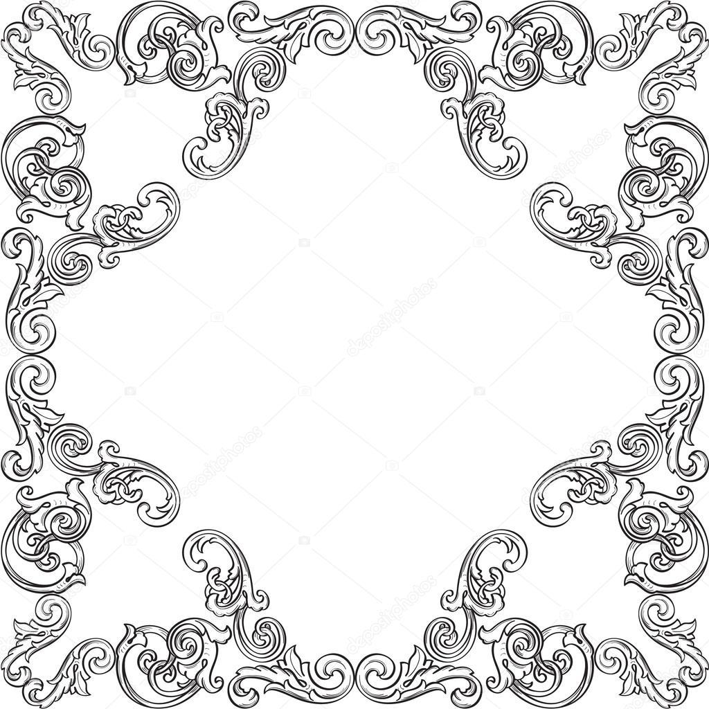 retro viktorianischen frame — Stockvektor © buravtsoff #97834070