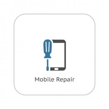 Mobile Repair Icon. Flat Design.