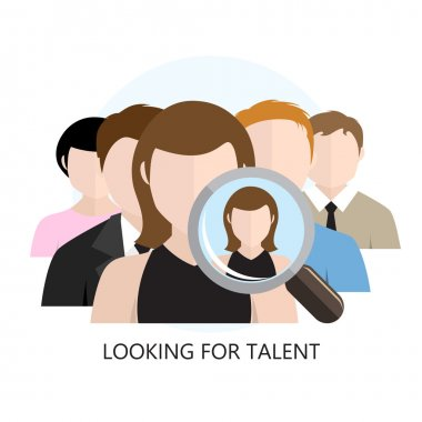 Looking for Talent Icon Flat Design Isolated on White stock vector