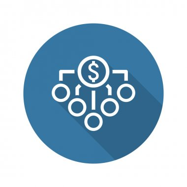 Return on Investment Icon. Business Concept. Flat Design.