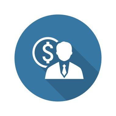 Value Icon. Business Concept. Flat Design.