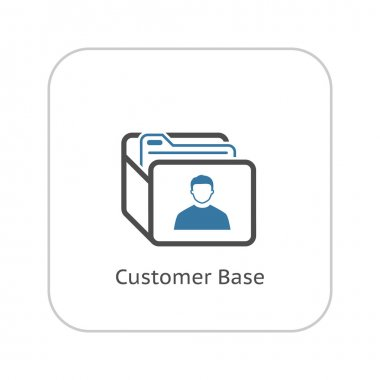 Customer Base Icon. Business Concept. Flat Design.