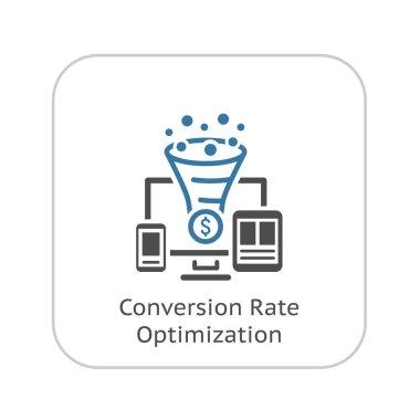 Conversion Rate Optimisation Icon.