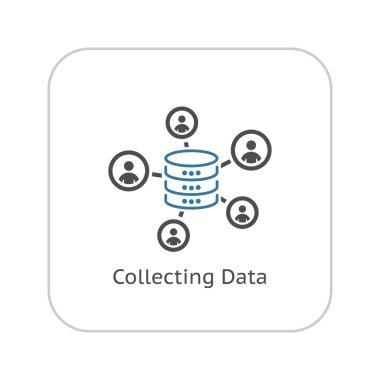 Collecting Data Icon. Flat Design.