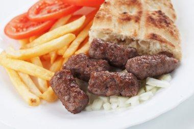 Cevapcici, bosnian minced meat kebab