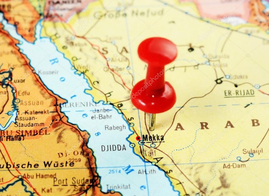 Mecca,Saudi Arabia map — Stock Photo © ivosar #108341042 on