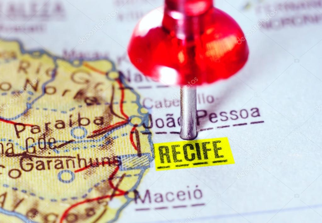 map of Recife Brazil Stock Photo ivosar 117874450