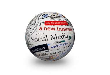 social media business 3d sphere