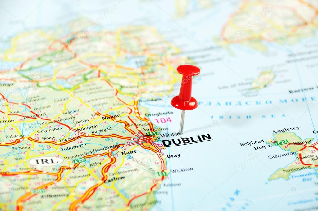 Dublin Ireland United Kingdom Map Stock Photo C Ivosar 54150929