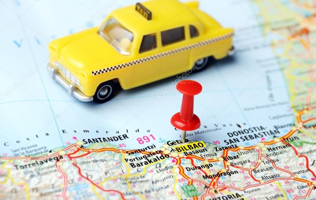 Bilbao Spain Map Taxi Stock Photo C Ivosar 58233689