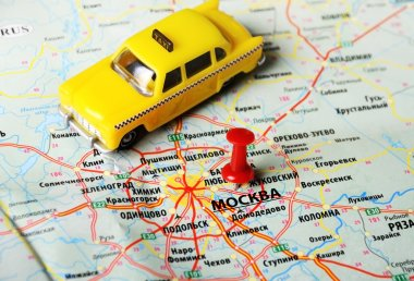 Moscow  , Russia  map taxi