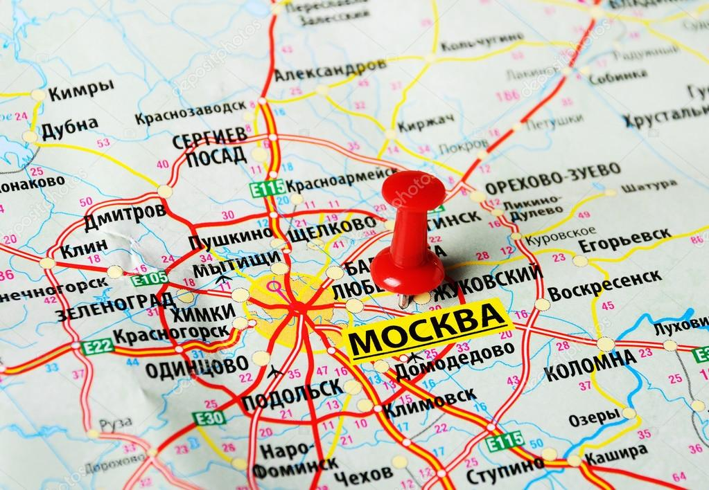 Moscow , Russia map — Stock Photo © ivosar #67760981