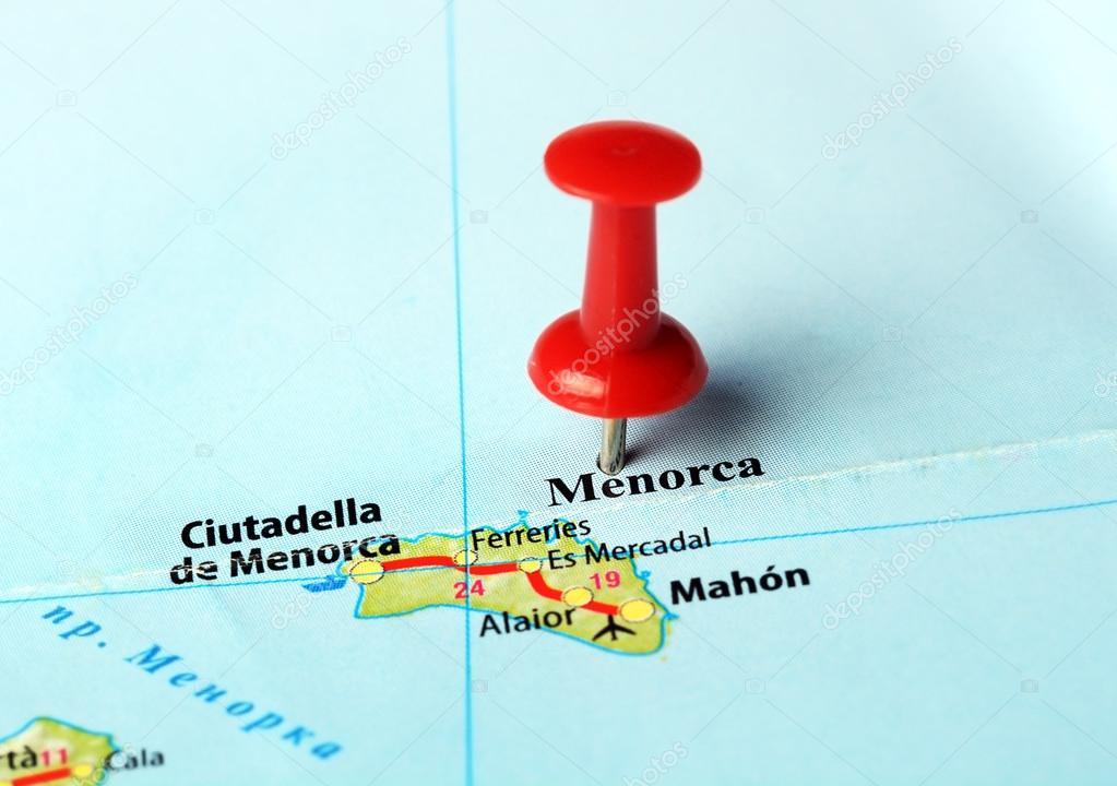 Insel Menorca Karte.Karte Der Insel Menorca Spanien Stockfoto C Ivosar 69693559