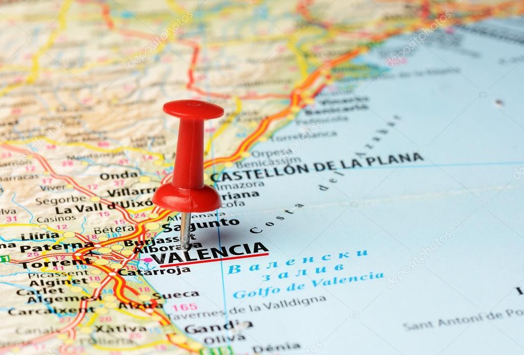 Valencia, Espagne carte — Photographie ivosar © #69954319