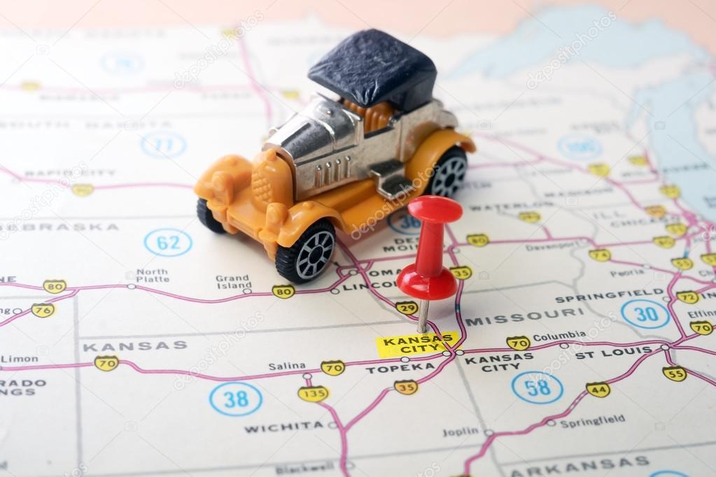 関西の都市米国地図レトロ車 — ...