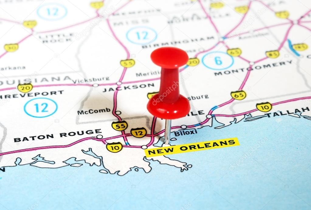 New Orleans USA Map Stock Photo Ivosar - New orleans in map of usa