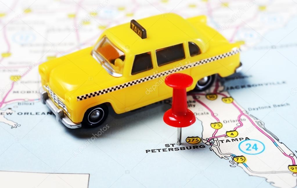 St Petersburg Florida Map.St Petersburg Usa Florida Map Taxi Stock Photo C Ivosar 84449394
