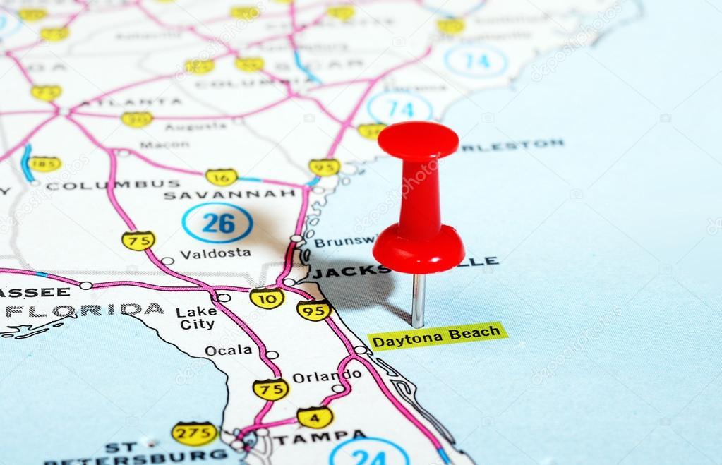 Daytona Beach Florida Usa-Karte — Stockfoto © ivosar #84449480