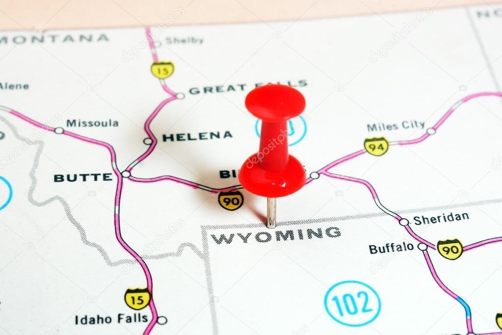 Wyoming Usa-Karte — Stockfoto © ivosar #89321942