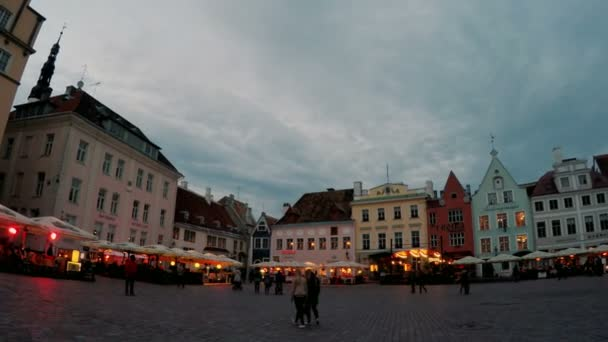 A crowd of tourists visit Town hall square in the Old city on September 5, 2015 in Tallinn, Estonia